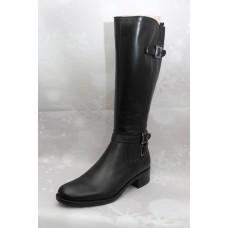 Дамски ботуши  1076 естествена кожа, черен
