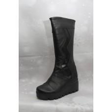 Дамски ботуши  189 естествена кожа, черен