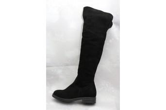 Дамски ботуши   2064 естествен велур, черен