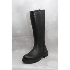 Дамски ботуши  3021 естествена кожа черен