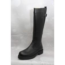 Дамски ботуши  3022 естествена кожа, черен
