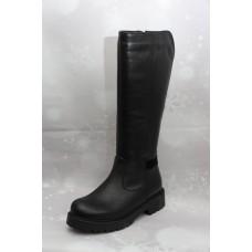 Дамски ботуши  3023 естествена кожа, черен BOT_3023