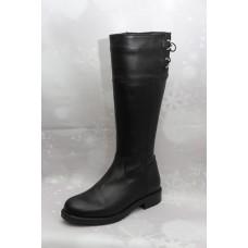 Дамски ботуши  3024 естествена кожа, черен