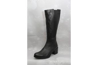 Дамски ботуши  3025 естествена кожа, черен