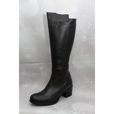 Дамски ботуши  3026 естествена кожа, черен