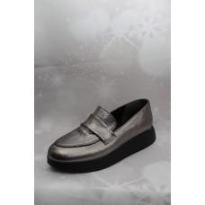 Дамски обувки 4070 естествена кожа, платина