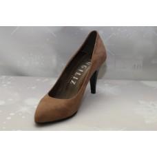 Елегантна дамски обувки с висок ток цвят кафе